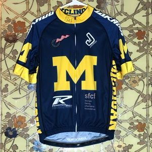 UNIVERSITY OF MICHIGAN Cycling Tee Shirt Large